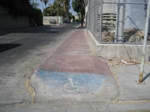 Sidewalk in La Paz
